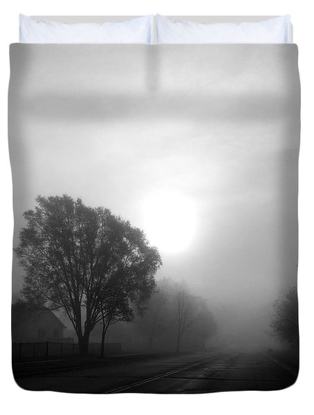 Light Through A Fog Duvet Cover