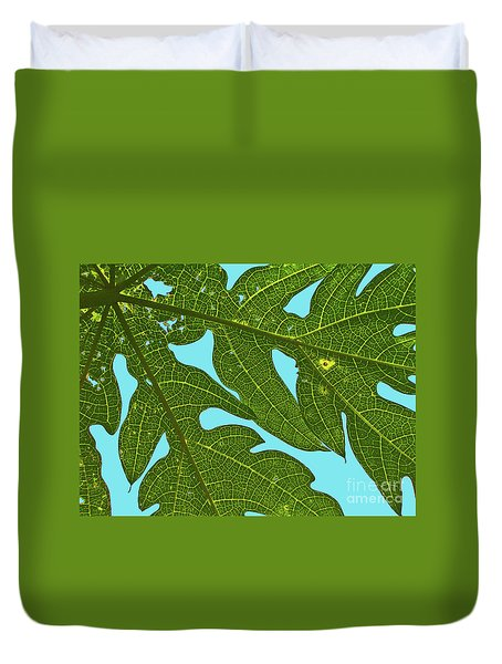 Light Through The Leaves Duvet Cover