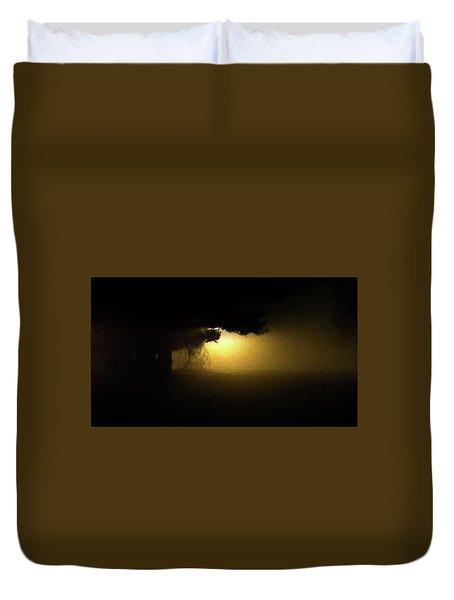 Light Through The Tree Duvet Cover by Leeon Pezok
