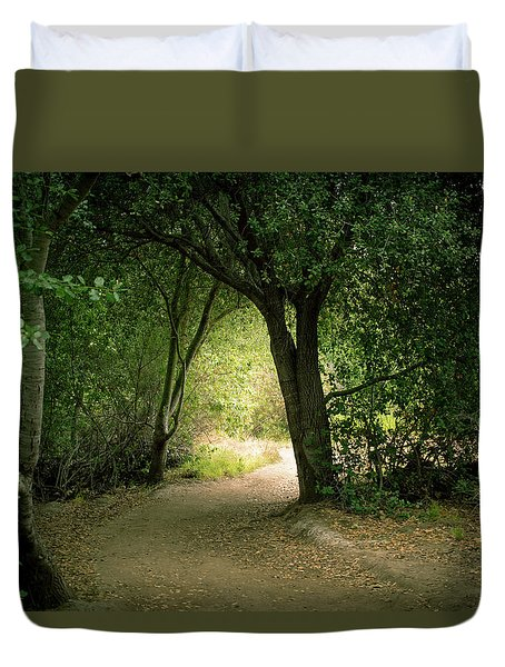 Light Through The Tree Tunnel Duvet Cover