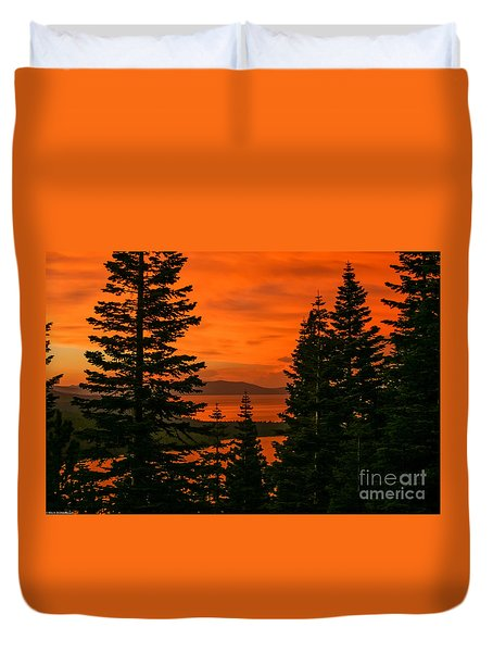 Light Through The Trees Duvet Cover
