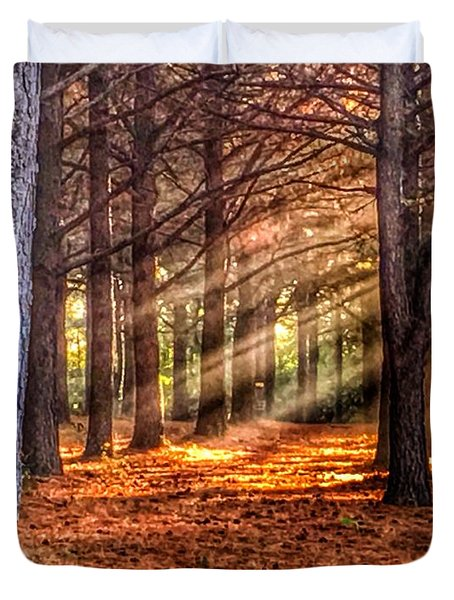 Light Thru The Trees Duvet Cover