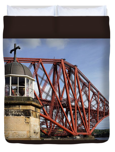 Duvet Cover featuring the photograph Light Tower by Jeremy Lavender Photography