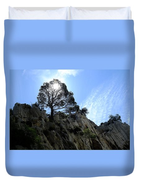 Light Tree Duvet Cover