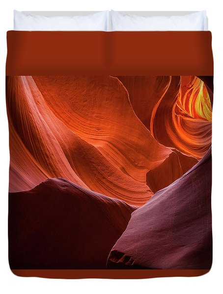 Light Tunnel - Antelope Lower Duvet Cover