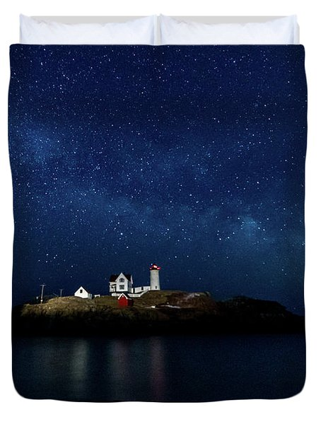 Light Up Nubble Lighthouse Duvet Cover