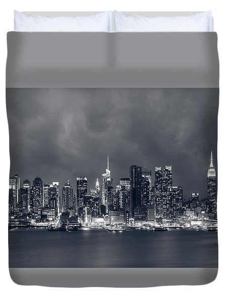 Light Will Drive Out Darkness Duvet Cover