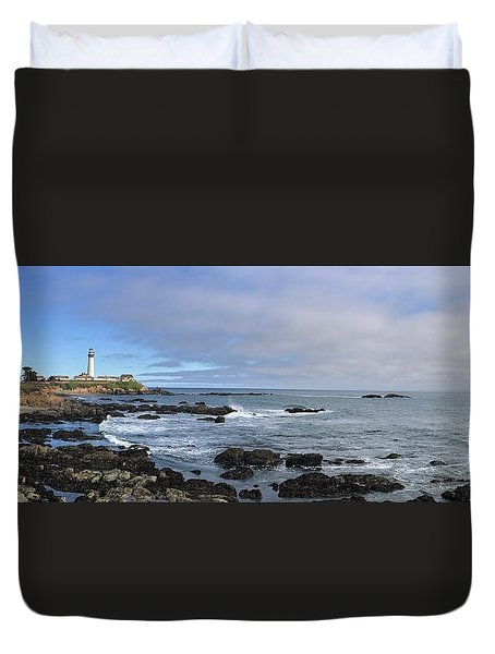 Lighthouse And Coastview Duvet Cover