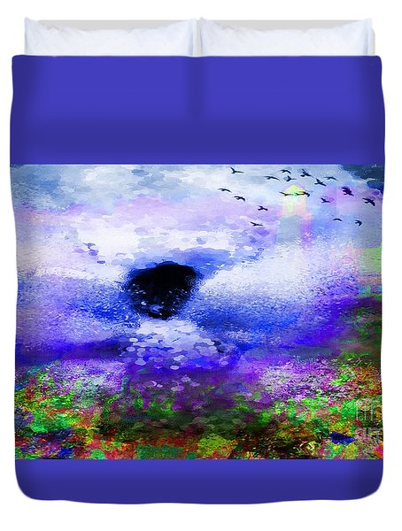 Lighthouse Angel Purple In Hotty Totty Style Duvet Cover