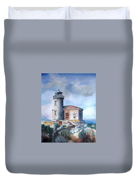 Lighthouse At Bandon Duvet Cover