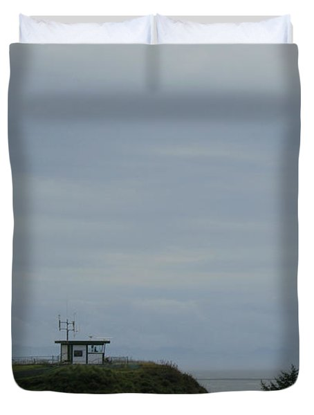 Lighthouse At Cape Disappointment Duvet Cover