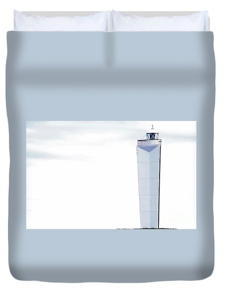 Duvet Cover featuring the photograph Lighthouse At Cape Jervis by Stephen Mitchell