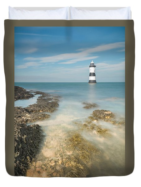 Lighthouse At Penmon Duvet Cover