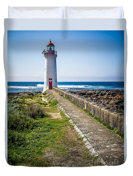 Lighthouse Beach Duvet Cover