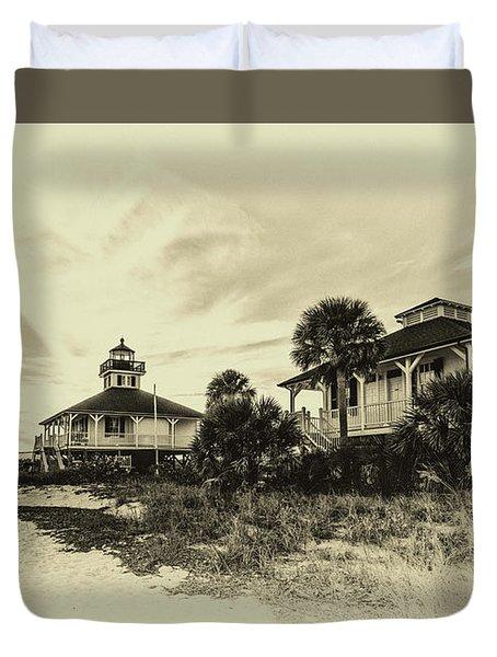 Lighthouse Boca Grande Duvet Cover