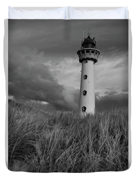 Lighthouse Bw Duvet Cover
