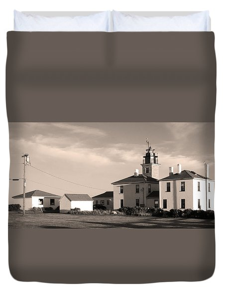 Jamestown Lighthouse Duvet Cover