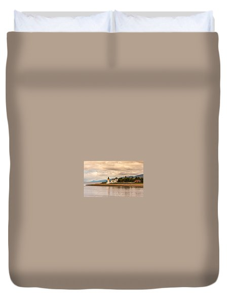 Lighthouse In The Highlands Duvet Cover