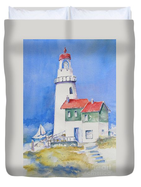Lighthouse Duvet Cover by Mary Haley-Rocks