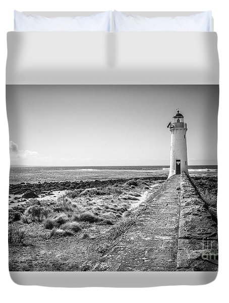 Lighthouse Morning Duvet Cover