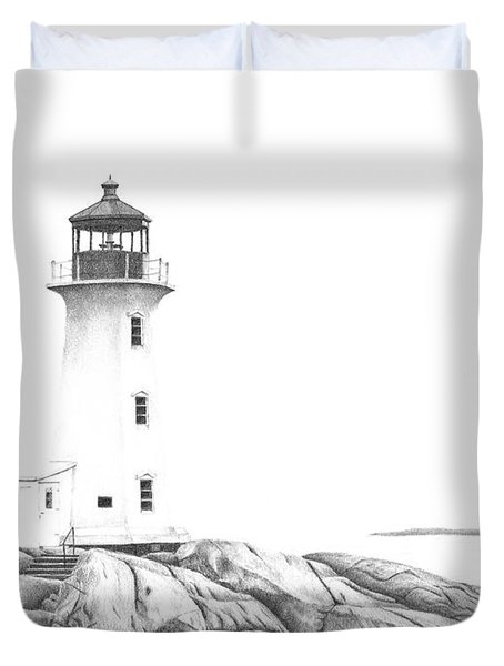 Lighthouse Of Peggy's Cove Duvet Cover