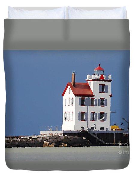 Lighthouse Oils Duvet Cover