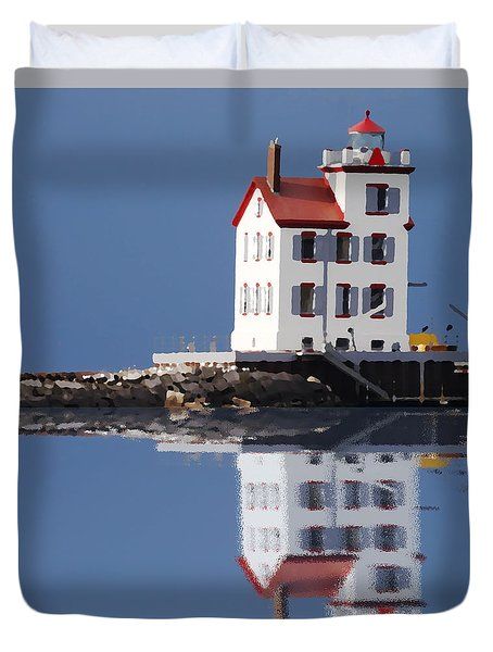 Lighthouse Oils Reflection Duvet Cover