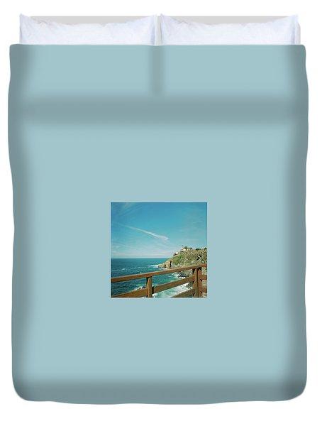 Lighthouse Over The Ocean Duvet Cover
