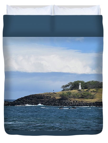Duvet Cover featuring the photograph Lighthouse by Pamela Walton