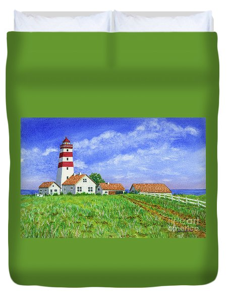 Lighthouse Pasture Duvet Cover