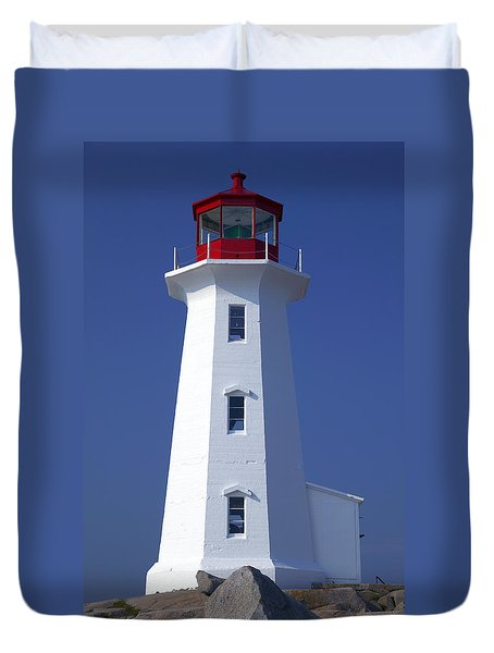 Lighthouse Peggy's Cove Duvet Cover by Garry Gay