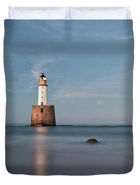 Duvet Cover featuring the photograph Lighthouse Twilight by Grant Glendinning