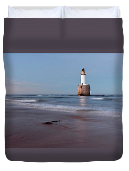 Duvet Cover featuring the photograph Lighthouse by Grant Glendinning