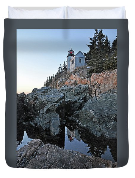 Duvet Cover featuring the photograph Lighthouse Reflection by Glenn Gordon