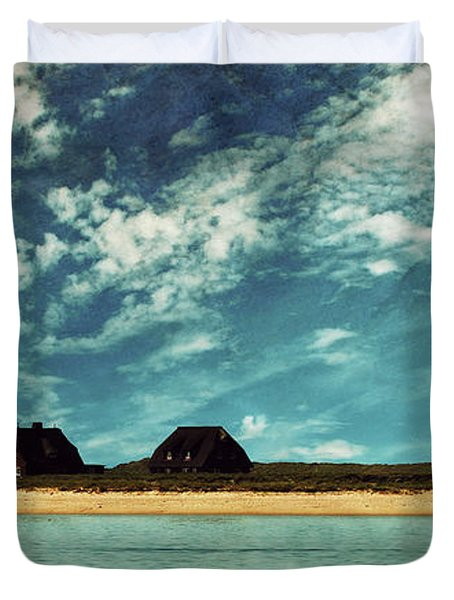 Lighthouse Scenery At List Duvet Cover by Hannes Cmarits