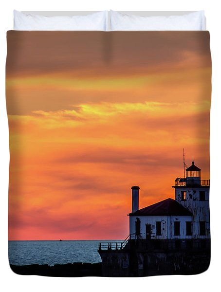 Lighthouse Silhouette Duvet Cover