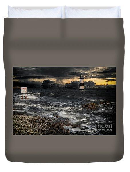 Lighthouse Storm Duvet Cover