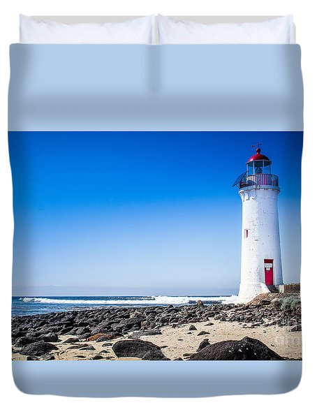 Lighthouse Surf Duvet Cover