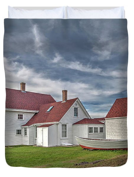 Keepers House At The Monheagn Lighthouse Duvet Cover