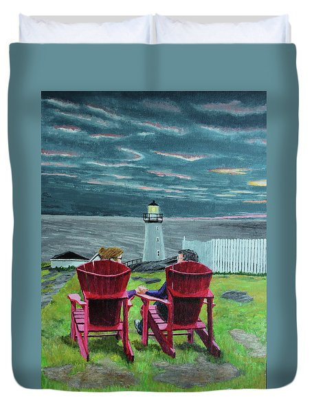 Lighthouse Lovers Duvet Cover