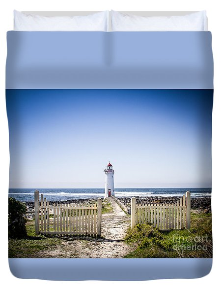 Lighthouse Walk Duvet Cover