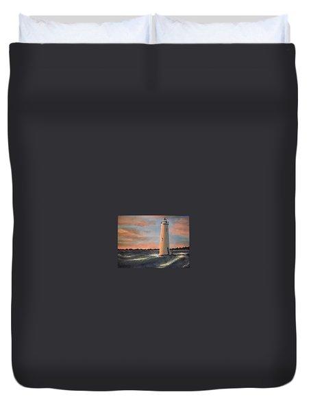 Lighthouse Waves Duvet Cover