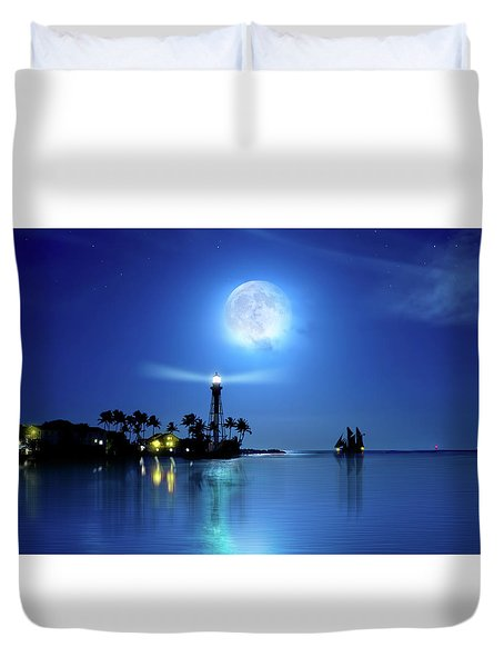 Lighting The Lighthouse Duvet Cover