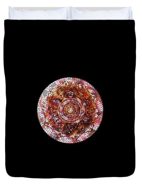 Duvet Cover featuring the digital art Lightmandala 6 Star Morp 5 by Robert Thalmeier