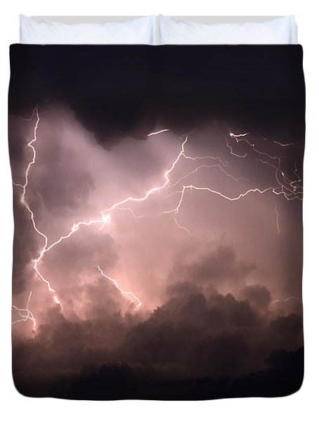 Lightning 2 Duvet Cover by Bob Christopher