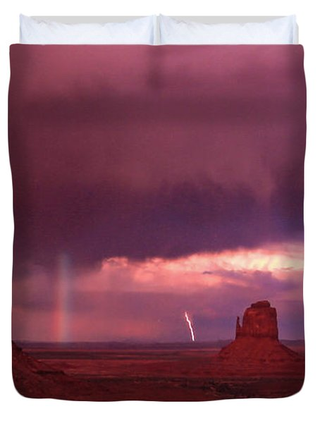 Lightning And Rainbow Duvet Cover