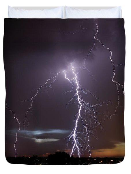 Lightning At Dusk Duvet Cover
