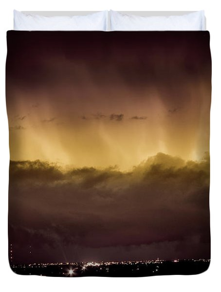 Lightning Cloud Burst Boulder County Colorado Im29 Duvet Cover by James BO  Insogna