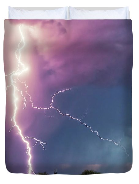 Lightning Dancer Duvet Cover
