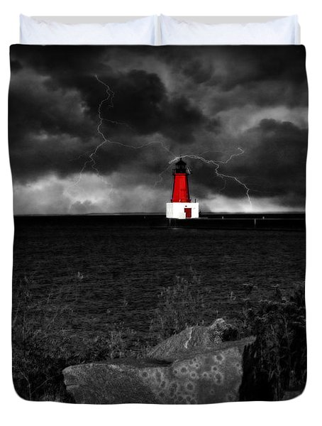 Lightning House Duvet Cover